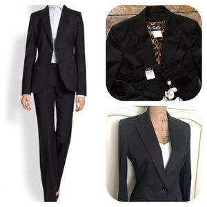 Dolce & Gabbana Blazer & Pant Suit Set in Black